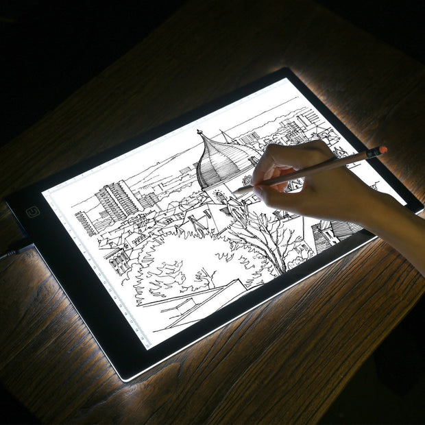 A4 LED Tracing Light Box Dimmable Tracer Portable Artists Drawing Board USB