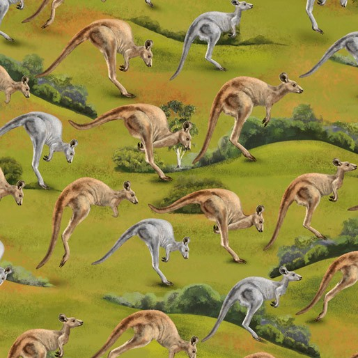 NEW Wildlife Valley: Grey & Brown Jumping Kangaroos by KK Designs