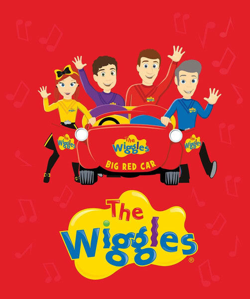 Ready, Steady, Wiggle! Red Car Panel by Riley Blake