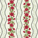 Festival of Roses Cream Wavy Stripe by Benartex
