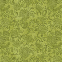 NEW: Accent on Sunflowers: Livingston Medium Green by Jackie Robinson for Benartex
