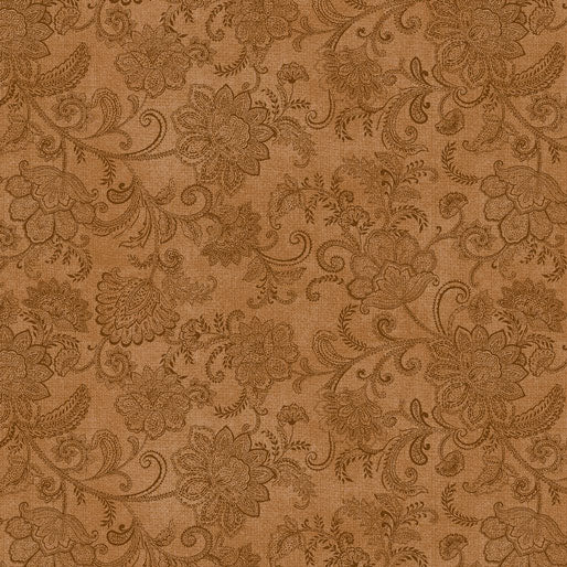 NEW: Accent on Sunflowers: Livingston Medium Cinnamon by Jackie Robinson for Benartex