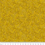 Accent on Sunflowers: Butterfly Fields Gold by Jackie Robinson for Benartex