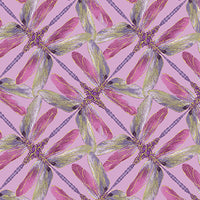 Dance Of The Dragonfly: Pinwheel Geo Lilac by Benartex