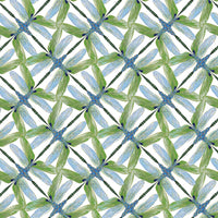 Dance Of The Dragonfly: Pinwheel Geo White/Green by Benartex