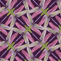 Dance Of The Dragonfly: Pinwheel Geo Plum by Benartex
