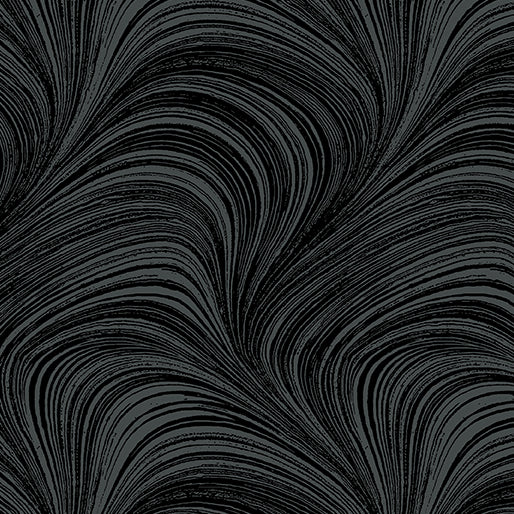 Wave Texture - Black by Benartex
