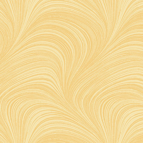 Wave Texture - Yellow by Benartex