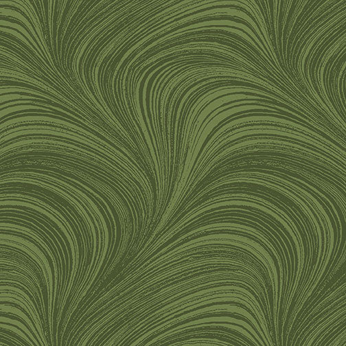 Wave Texture - Medium Green by Benartex