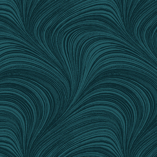 Pearlescent Wave Texture - Dark Teal by Benartex