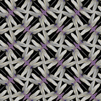 Dance Of The Dragonfly: Pinwheel Geo Black/Grey by Benartex