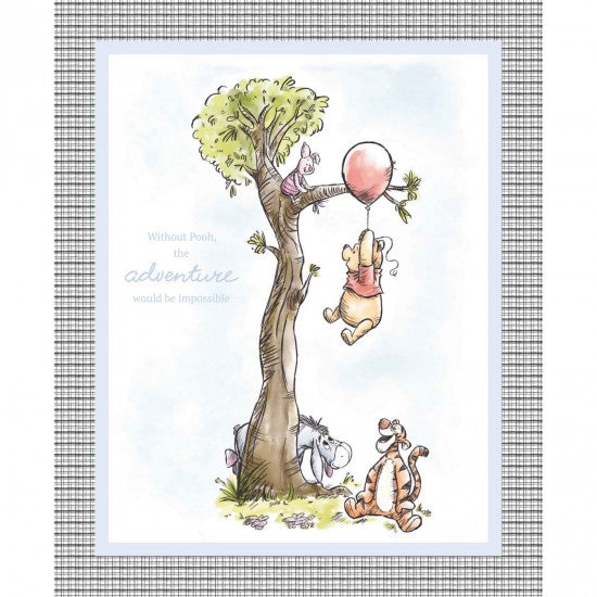 NEW: Pooh Bear Nursery Panel by Springs Creative - 100% Cotton