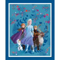 Frozen II - Licensed Disney Panel -Elsa Anna Olfa & Sven