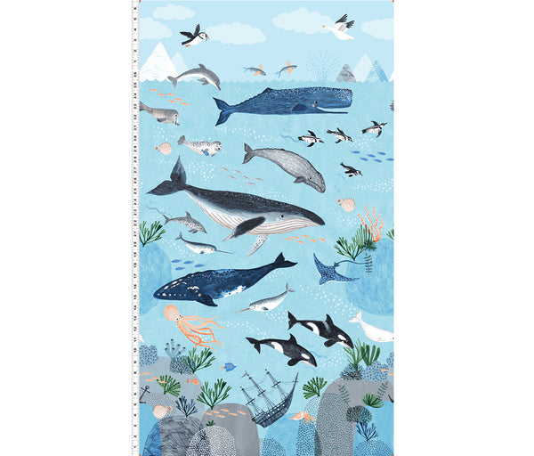 Oceans Away Panel by Rebecca Jones for Clothworks