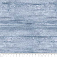 Washed Wood: Sea Blue by Benartex