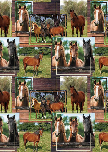 All Over Horses by KK Fabrics