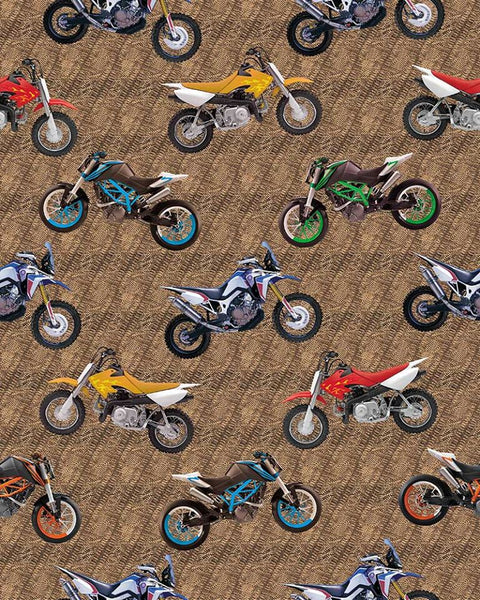 Dirt Bikes Tossed- KK Designs