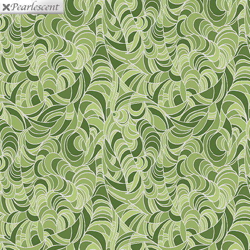 Lilyanne: Ripple Green by Ann Lauer for Benartex