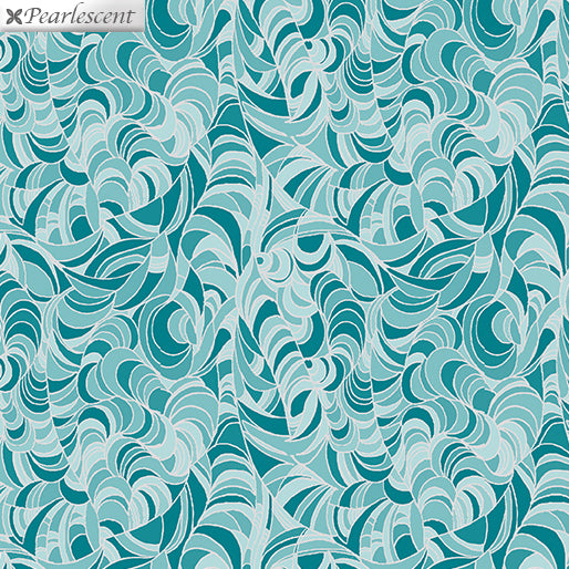 Lilyanne: Ripple Teal by Ann Lauer for Benartex