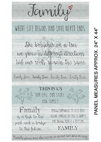 Farm Sweet Farm: Family Panel Grey/Multi by Benartex