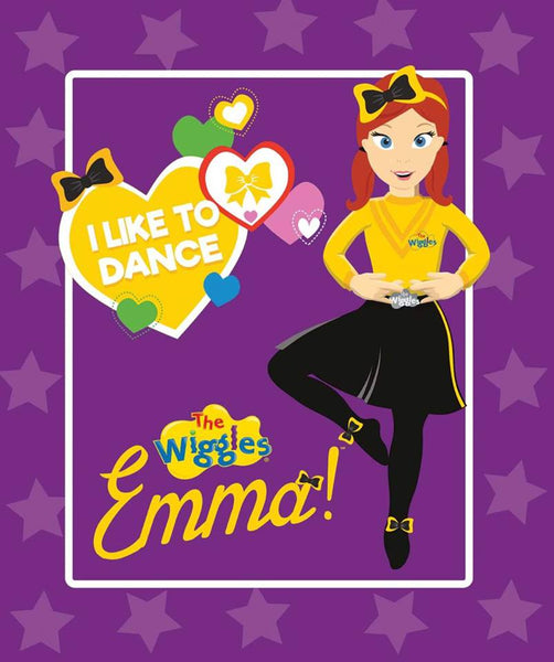 Ready, Steady, Wiggle! Purple Emma Panel by Riley Blake