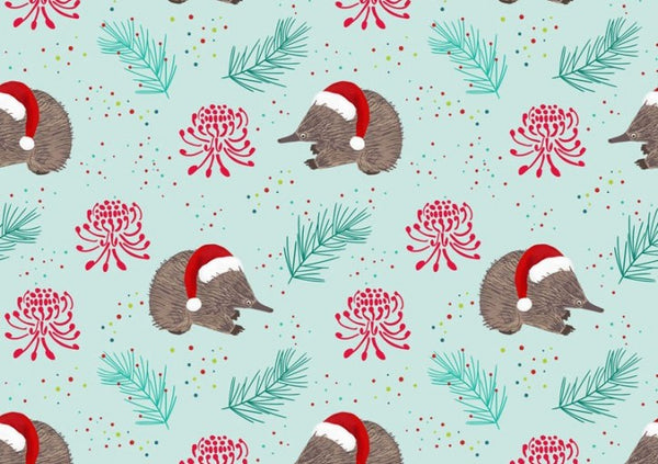 Aussie Christmas: Echidna/Light Green Amanda Joy Designs