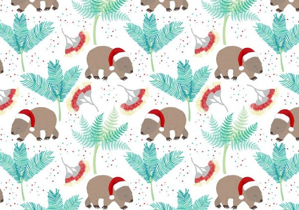Aussie Christmas: Wombats/White Amanda Joy Designs