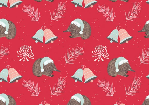 Aussie Christmas: Echidna/Red Amanda Joy Designs
