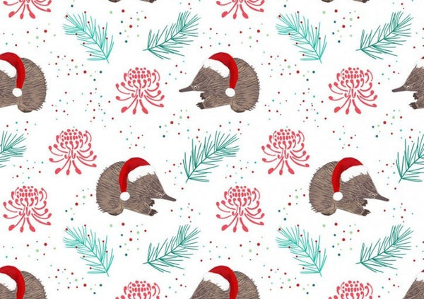 Aussie Christmas: Echidna/White Amanda Joy Designs