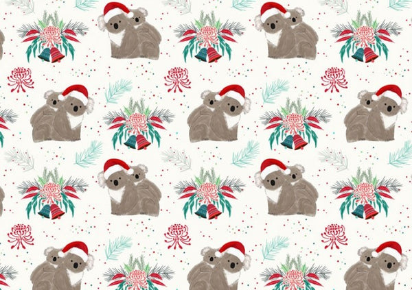Aussie Christmas: Koalas/White Amanda Joy Designs