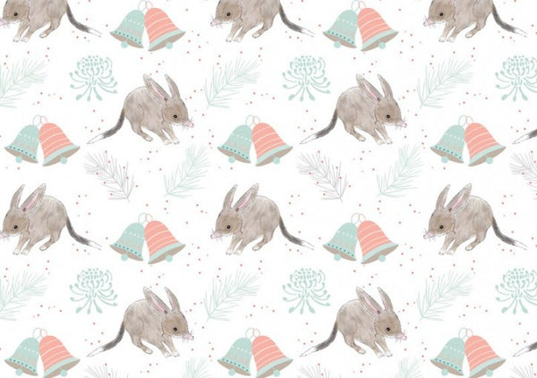 Aussie Christmas: Bilby/White Amanda Joy Designs
