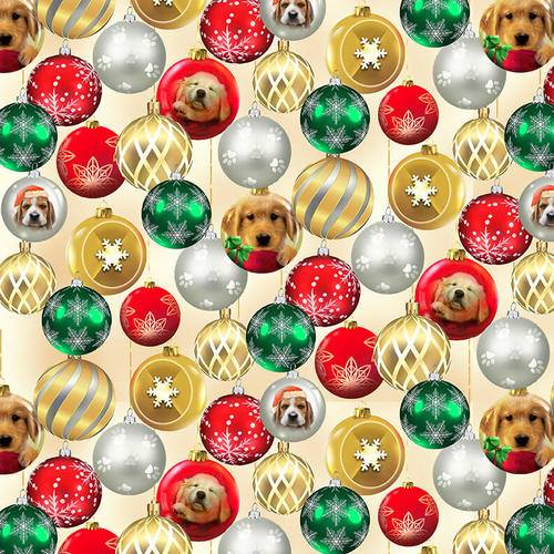 Fireside Pups Christmas Puppy Baubles by Henry Glass