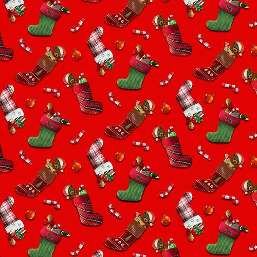 Fireside Pups Christmas Puppy Stockings by Henry Glass