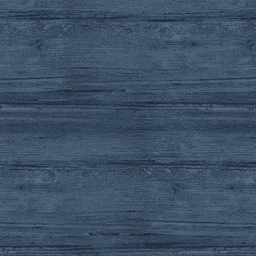 Washed Wood: Harbor Blue by Benartex