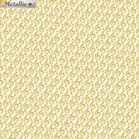 Metallic Music Notes Cream/Gold by Benartex