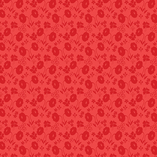 SALE Sew Excited--Floral Fun--Red by Benartex