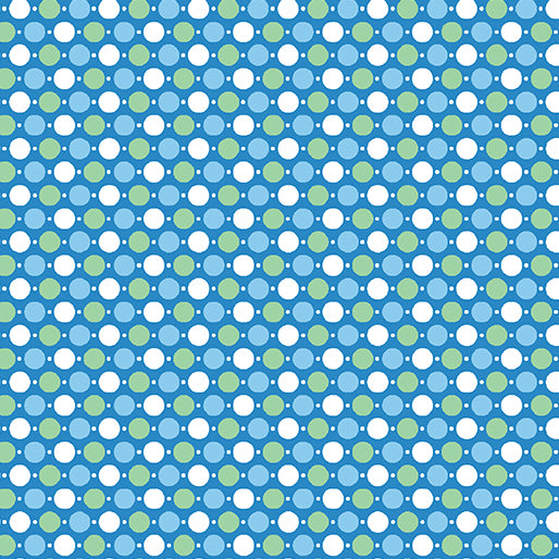 Toadily Cute: Hop Dot Coordinate - Blue by Kanvas Studio for Benartex