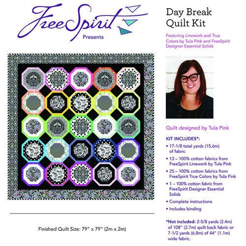 Tula Pink Daybreak Quilt Kit – featuring Linework & True Colours