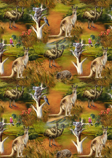 Wildlife Valley Stripe Small Australian Animals by KK Designs