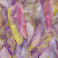Dance Of The Dragonfly: Gilded Wings Deep Lavender by Benartex