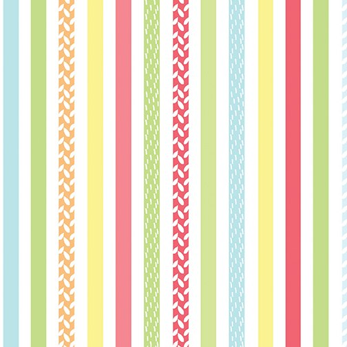 SALE; Friendship Forest Stripe by Kanvas for Benartex