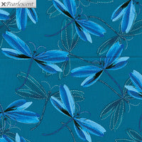 Pearl Reflections - Dragonfly Dream Dark Teal by Kanvas Studio for Benartex