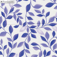 Pearl Reflections - Shimmer Leaves White/Purple by Kanvas Studio for Benartex