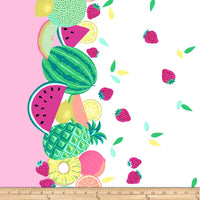 Sew Fruity - Double Border by Michael Miller - 100% Cotton