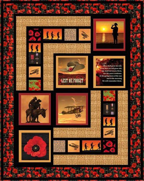 ANZAC QUILT KIT: Poppies To Remember