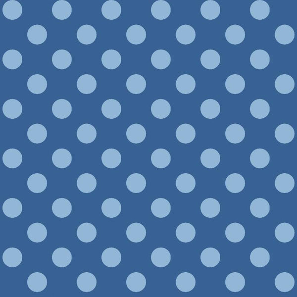 NEW: Vintage Boardwalk: Coordinate Dots Blue by Maywood Studio