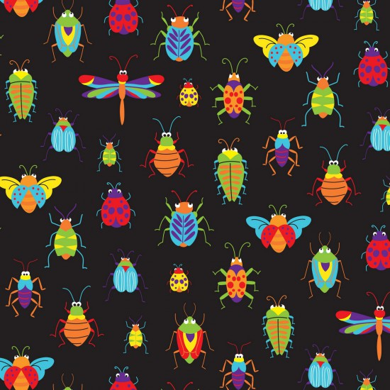 Bugs & Critters All Over by Nutex - 100% Cotton