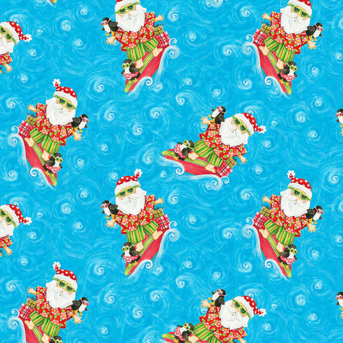 Holiday Beach: Surfing Santa by Blank Quilting