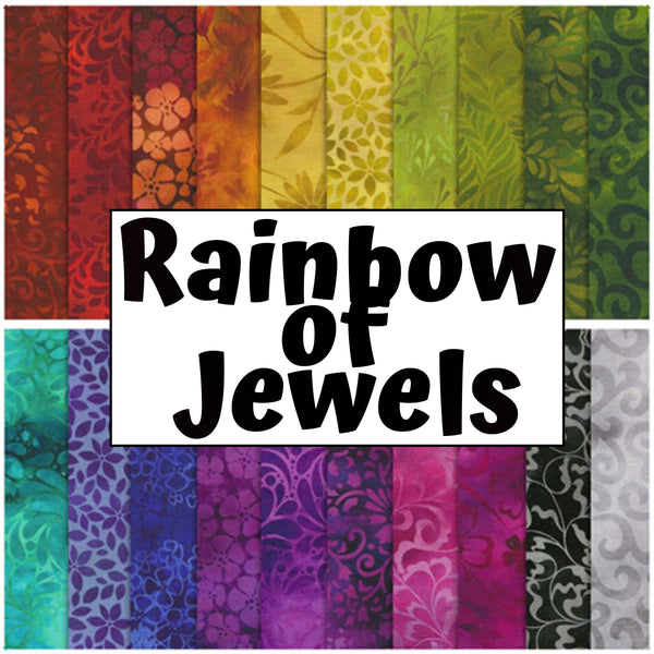 NEW Rainbow Of Jewels - Half Metre Bundle by Jason Yenter for In The Beginning