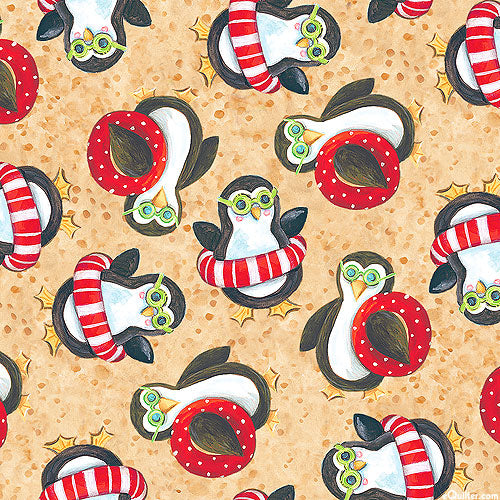 Holiday Beach: Penguins by Blank Quilting